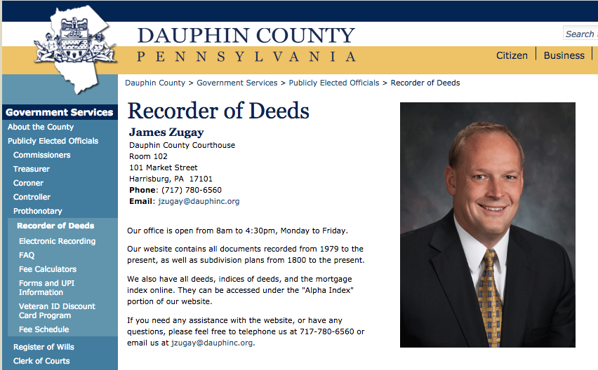 Dauphin County Recorder of Deeds | The PA Notary